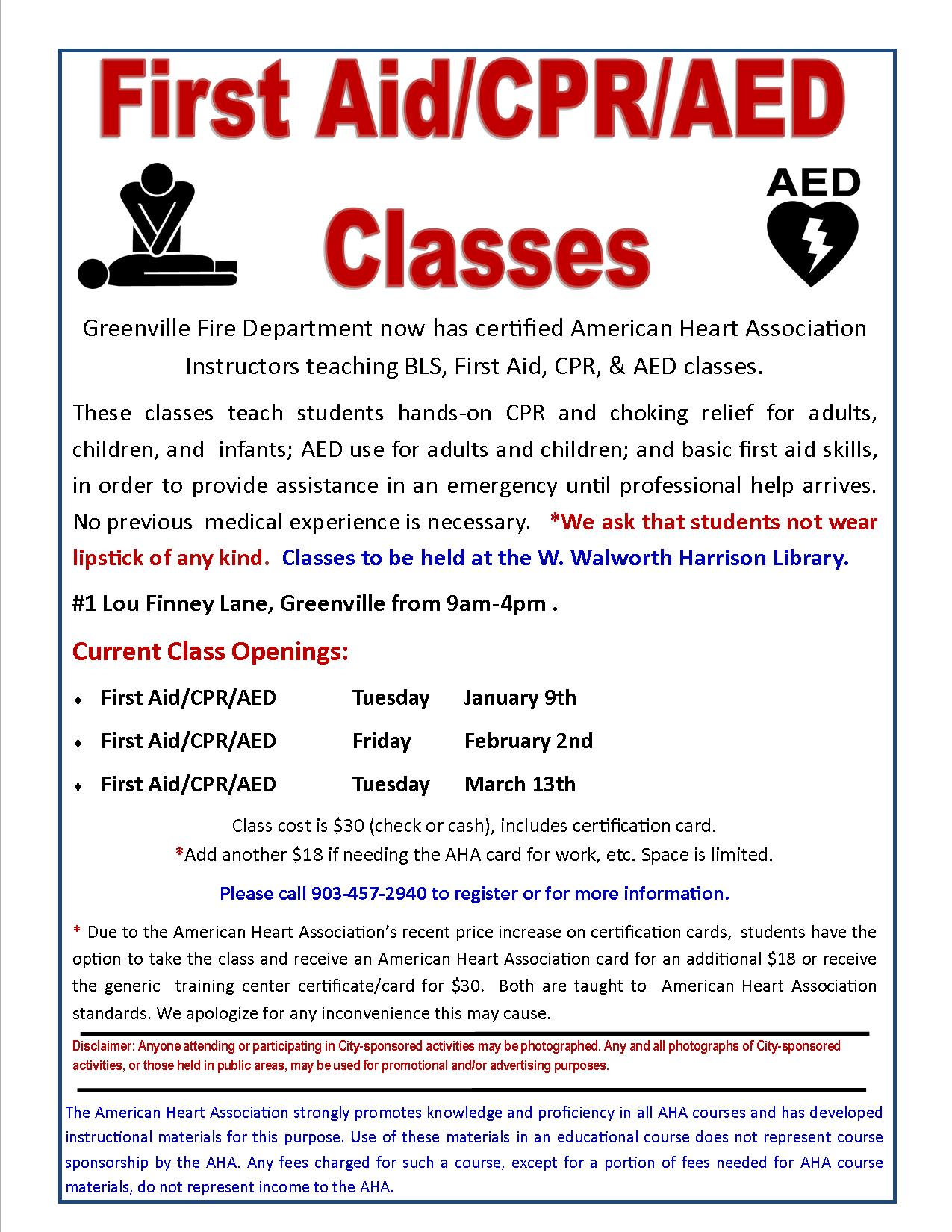 Cpr classes greenville tx official website cpr classes 1betcityfo Gallery