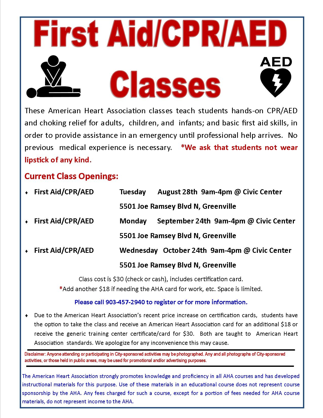 Cpr Classes Greenville Tx Official Website