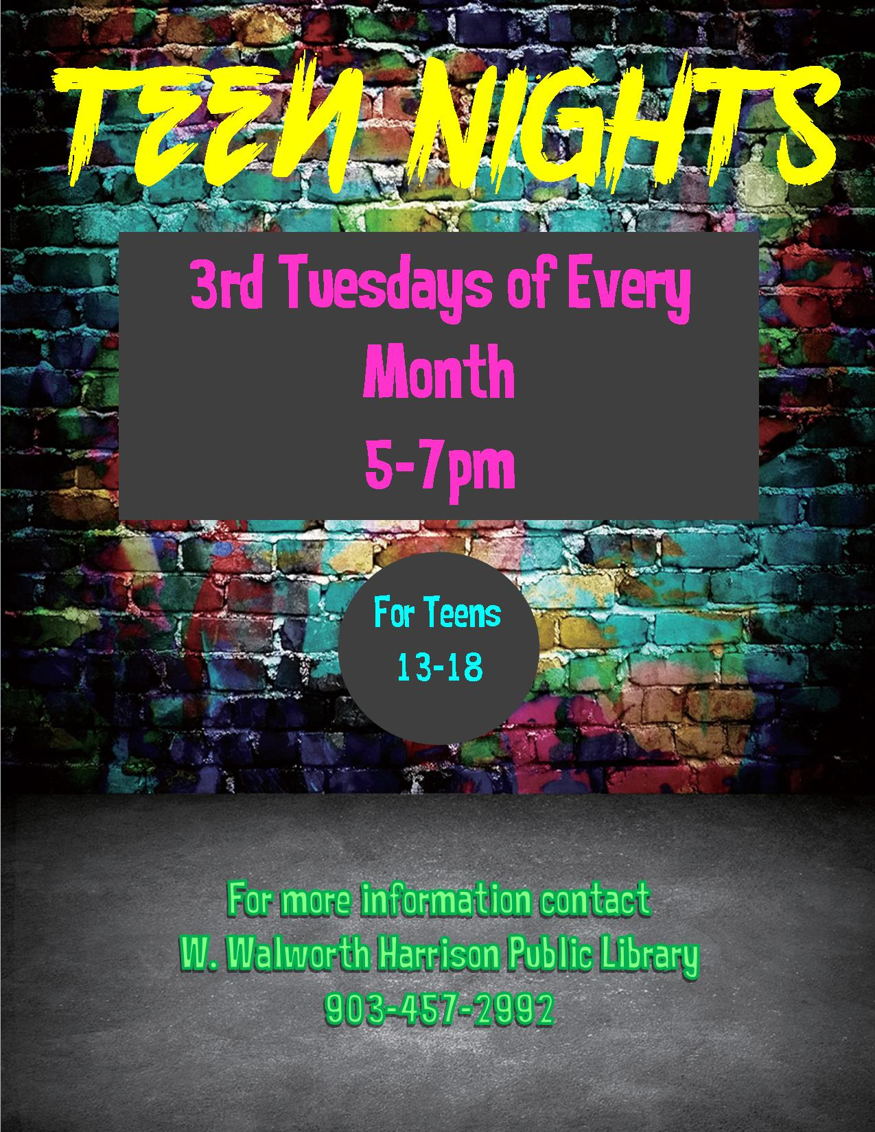 Teen Night Flyer