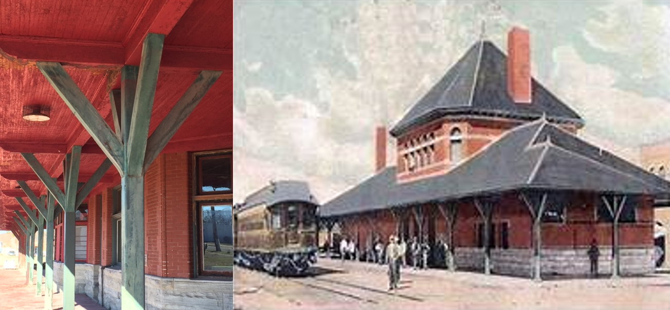 Katy Depot Then and Now
