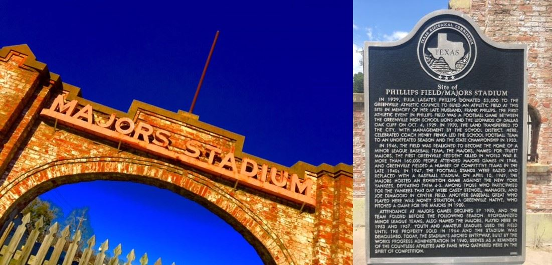 Majors Stadium Image and Historical Marker