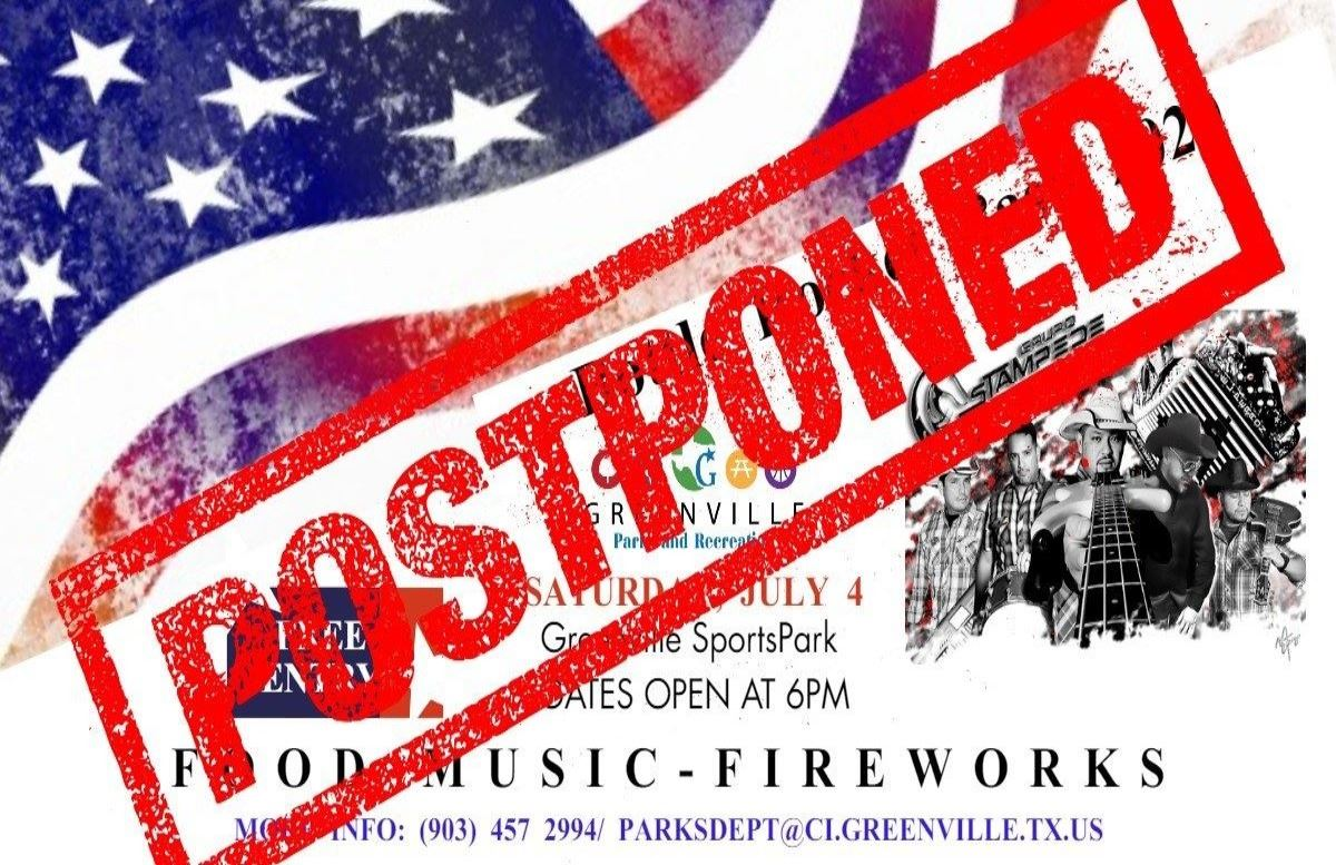 Flyer postponed Bottle Rocket Bash