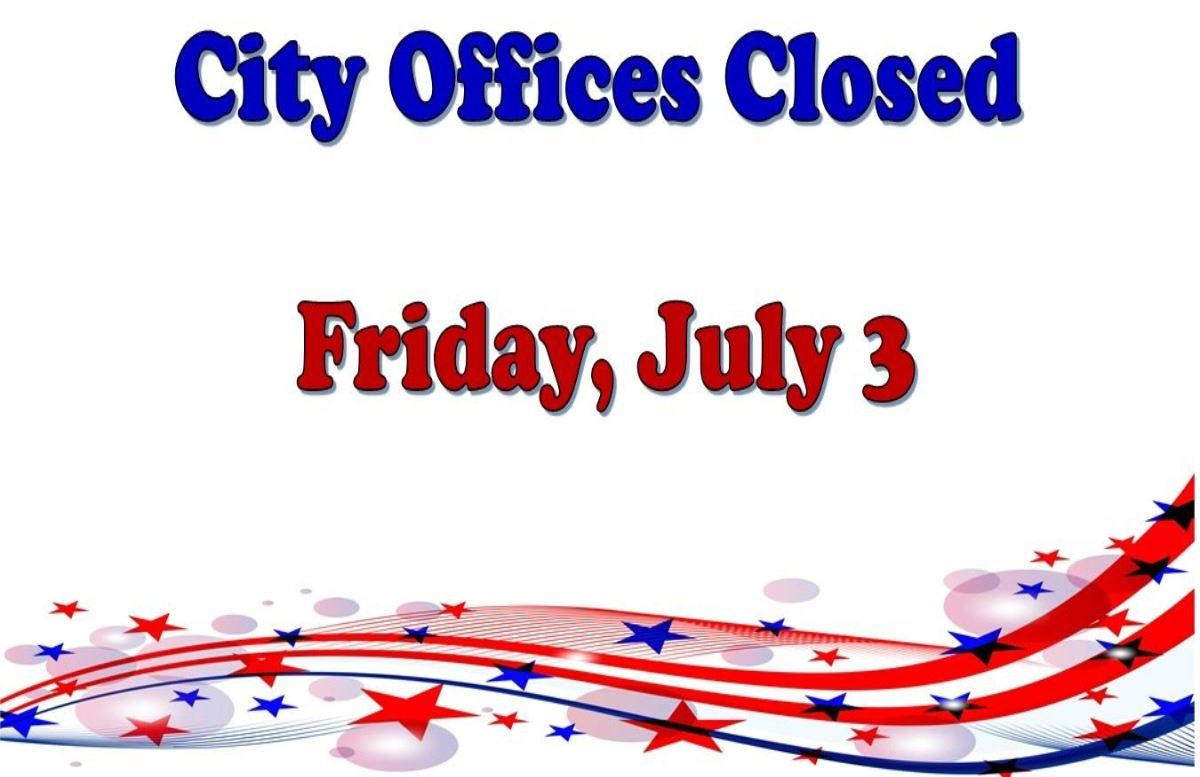 City offices closed July 3 2020