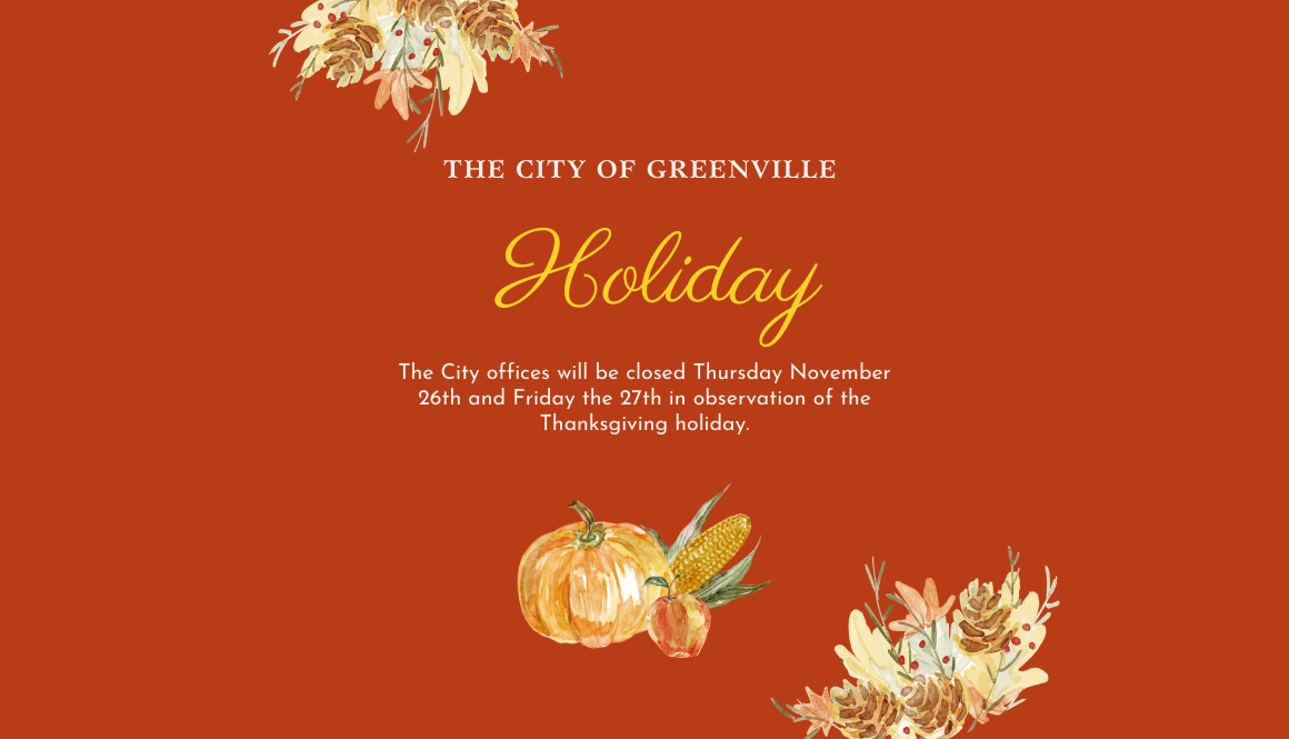 Thanksgiving Hours City of Greenville