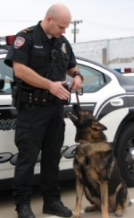 Officer Pemberton with canine